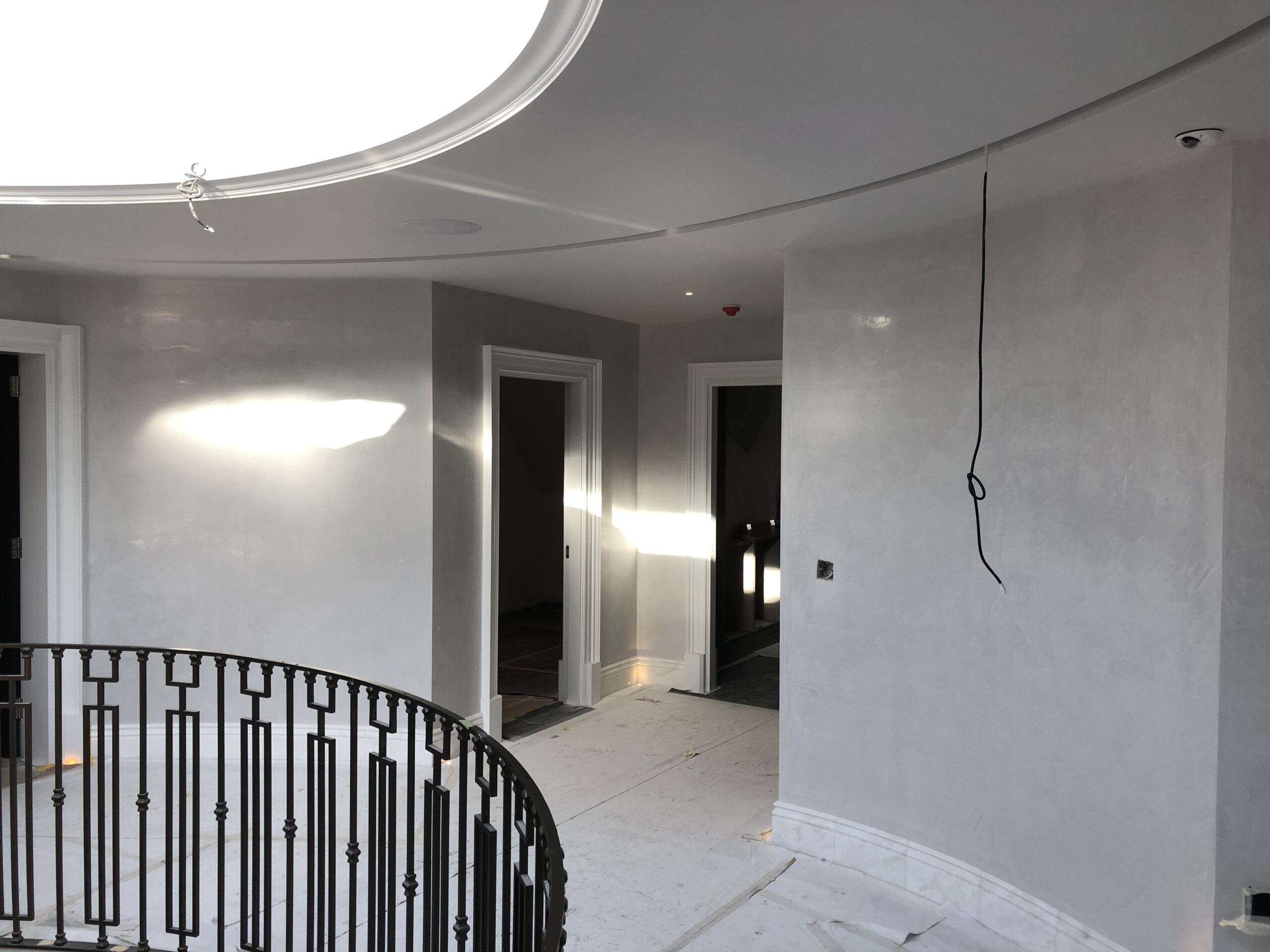 polished plaster project walls
